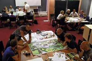zomer 2013. De stad brengt ideeën in en denkt mee over de inrichting van het plan Elisabeth Groen